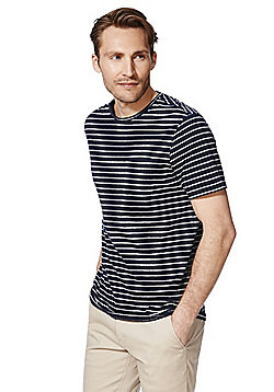 F&F Striped T-Shirt with Linen - Navy