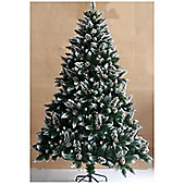 Bavaria 6ft Snow Flocked And Pine Cones Christmas Tree