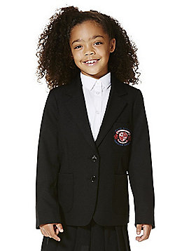Girls Embroidered Blazer - Black