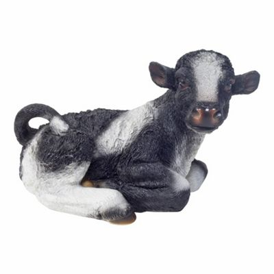 Laying Cow Calf Garden Animal Ornament