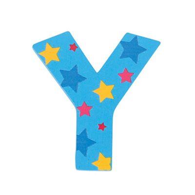 Bigjigs Toys Star Letter Y (Blue)