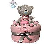 New Baby Girl Tatty Teddy Bear Nappy cake Gift Hamper