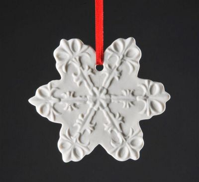 Weimar Snow Crystal Christmas Tree Decoration (Set of 2)