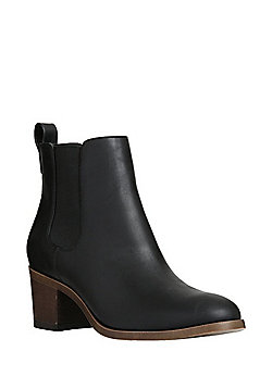 F&F Sensitive Sole Block Heel Chelsea Boots - Black
