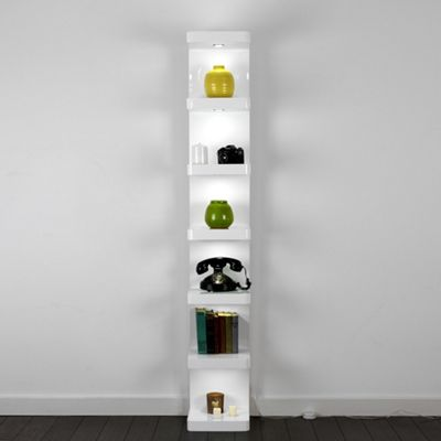 Shelby Large Tower Display Unit, White
