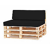 Water Resistant Pallet Small Back Cushion - Black