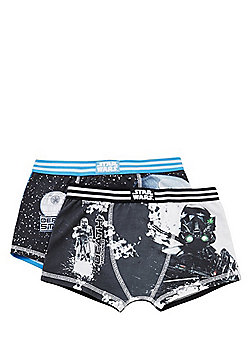 Star Wars 2 Pack of Rogue One Print Trunks - Black & White