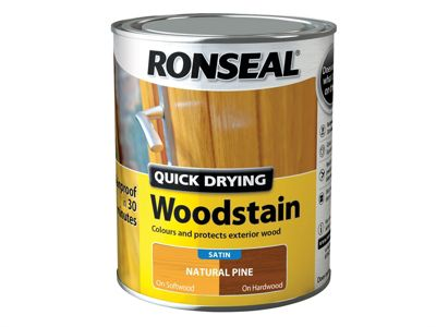 Ronseal Woodstain Quick Dry Satin Natural Pine 750ml