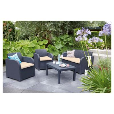 Allibert Carolina Rattan Effect Lounge Set