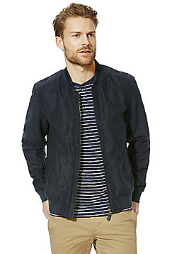 F&F Faux Suede Bomber Jacket - Navy