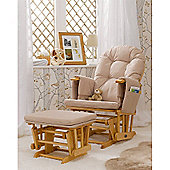 Babylo Monaco Glider Chair & Footstool (Natural)