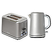 Brabantia BQPK09 Platinum Breakfast Kettle and 2 Slice Toaster Set