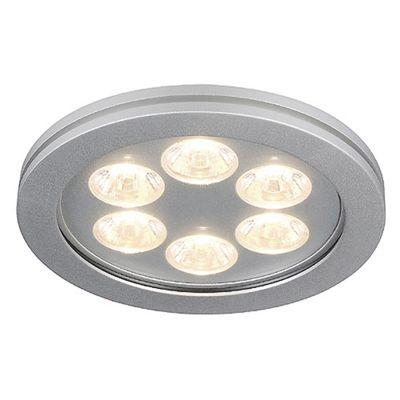 Eyedown LED 6X1W Downlight Round Aluminium Warm White