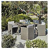 Tesco San Marino 5 Piece Rattan Cube Dining Set