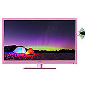 TECHNIKA 24F22P-HDR/DVD 24 INCH HD READY 720P SLIM LED TV DVD COMBI WITH FREEVIEW HD - PINK
