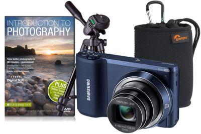 Samsung WB800F Black Camera Kit inc Training DVD, Desktop Tripod and Case
