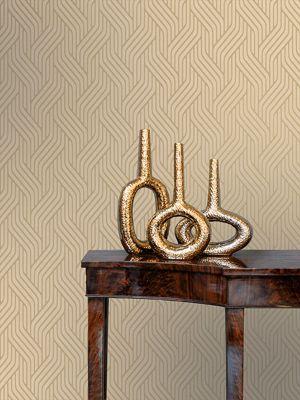 Pembrey Geometric Wallpaper Gold Holden Decor 65221