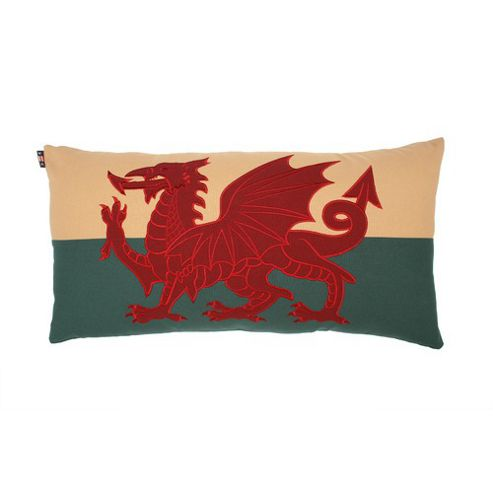 Woven Magic Wales Flag Duck Large Cushion