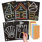 Seaside Dotty Sticker Art for Children to Design Make and Decorate as Summer Crafts (Pack of 8)