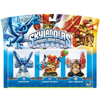 Skylanders - Triple Character Pack - Double Trouble, Whirlwind & Drill Sergeant