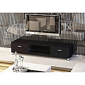 Black Low Rise Wood Effect TV Stand