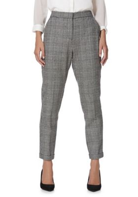Vero Moda Houndstooth Tapered Trousers Black/White XL