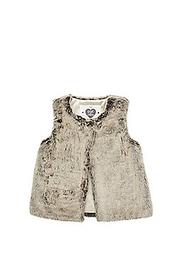 F&F Faux Fur Gilet - Taupe
