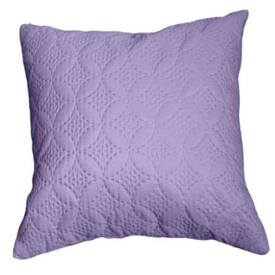 Homescapes Ultrasonic Mauve Quilted Embossed Cushion Cover, 40 x 40 cm
