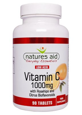 Natures Aid Vitamin C 1000mg Low Acid - 90 Tablets
