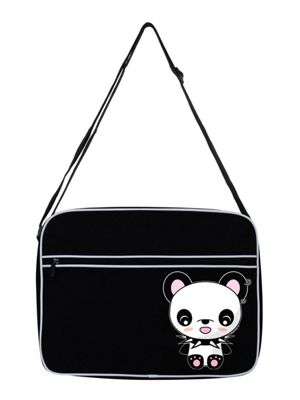 Rock Panda Black Shoulder Bag 38x33x11cm