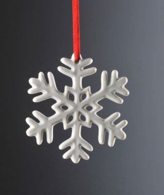 Weimar Snow Flake Christmas Tree Decoration (Set of 2)