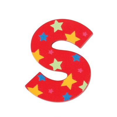 Bigjigs Toys Star Letter S (Red)