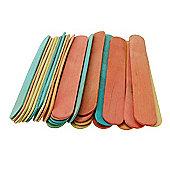 Jumbo Lollipop Sticks Assorted Colours - 60 Pack