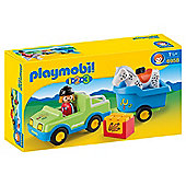 Playmobil 6958 1.2.3 Car with Horse Trailer