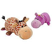 Flip A Zoo 14 Inch Giraffe / Hippo