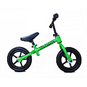"New 1080 Childs 12"" 3 Spoke Mag Wheels Balance Training Bike Green / Black"