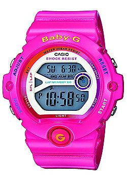 Casio Baby-G Ladies Pink Stopwatch Countdown timer Lap Memory Watch BG-6903-4BER