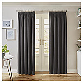 Tesco Canvas Lined Blackout Curtains - - 66 X 54 - Grey
