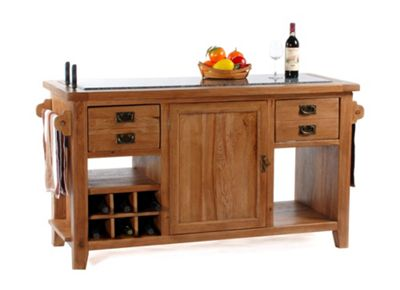 Wiseaction Florence Large Granite Top Kitchen Island