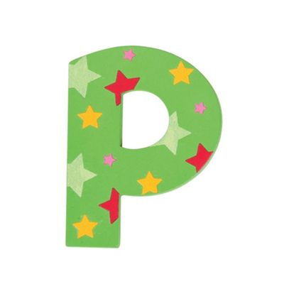 Bigjigs Toys Star Letter P (Green)