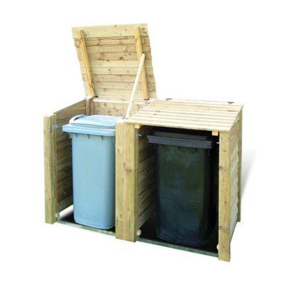 Morcott double wheelie bin storage unit