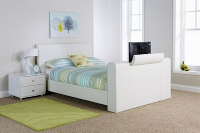 Brooklyn Pneumatic Tv Bedstead White