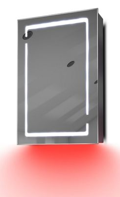 Demist Cabinet With LED Under Lighting, Sensor & Internal Shaver Socket k350r