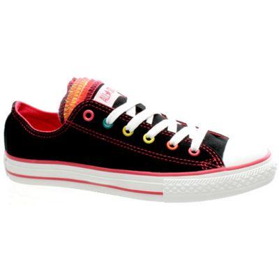 Converse Chuck Taylor Multi Tongue Ox Black/Multi Kids Shoe 632575