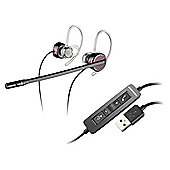 Plantronics Blackwire C435 Wired 28 mm Stereo, Mono Earset - Over-the-ear, Behind-the-neck - Open - Black, Grey