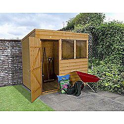 Forest Garden 7x5 Shiplap Dip Treated Pent Shed