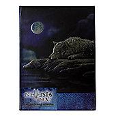 Lisa Parker Embossed Journal Quiet Reflection Black Notebook 13x17cm