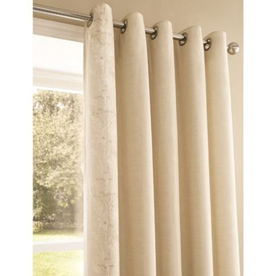 Serene Claudia Natural Eyelet Lined Curtains - 66x54 Inches (167x137cm)