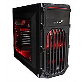 Cube Panther ESports Ready Gaming PC AMD Ryzen 5 Quad Core with with Radeon RX 470 4Gb Graphics Card AMD Ryzen Seagate 1Tb SSHD with 8Gb SSD Windows 1