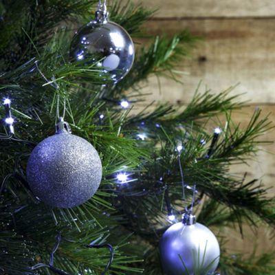 12pcs 6cm Shatterproof Silver Christmas Tree Bauble Decorations